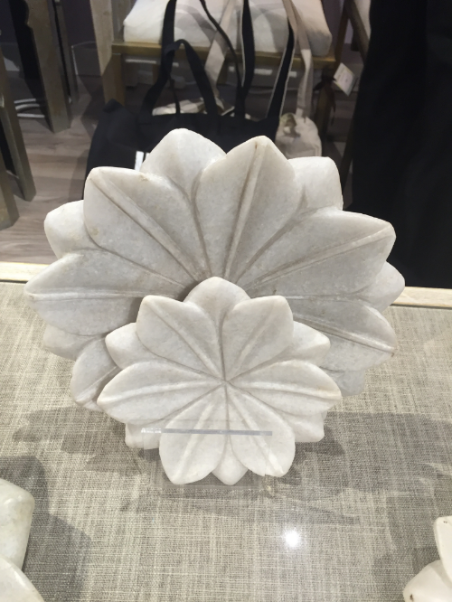 A collection of plaster lotus blossoms by Jamie Young